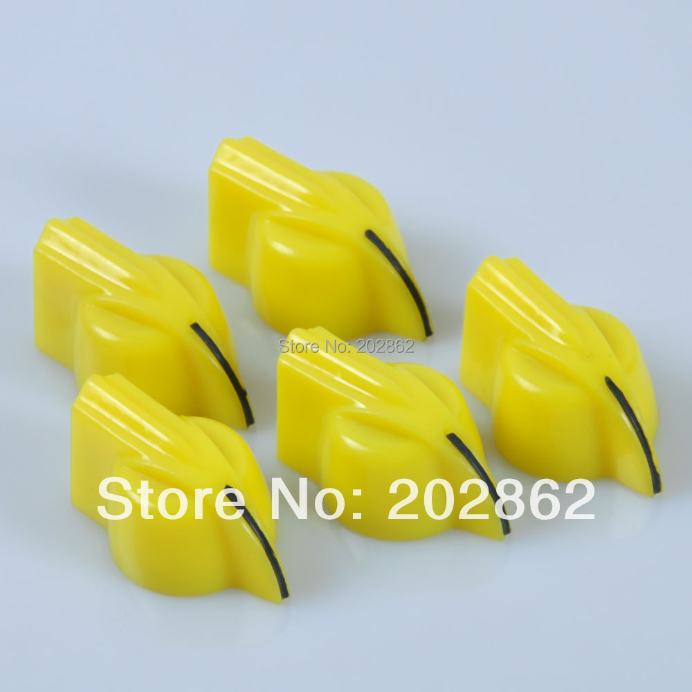 Free Shipping 50PCS Chicken Head Knob for Effect Bass Pedal Amplifier Yellow