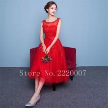 Elegant Scalloped Bridesmaid Dress Prom Gown Chiffon Cheap Wedding Party Dress Tea Length A Line Zipper Bridesmaid Dresses