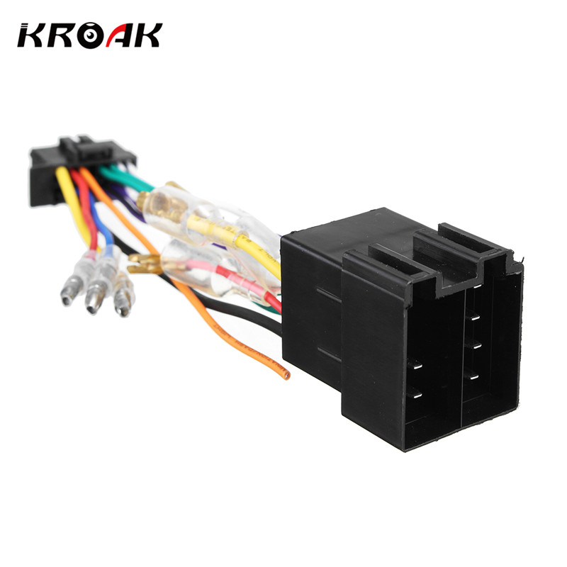 Kroak Car Stereo Radio Iso Wiring Harness Connector 16 Pin