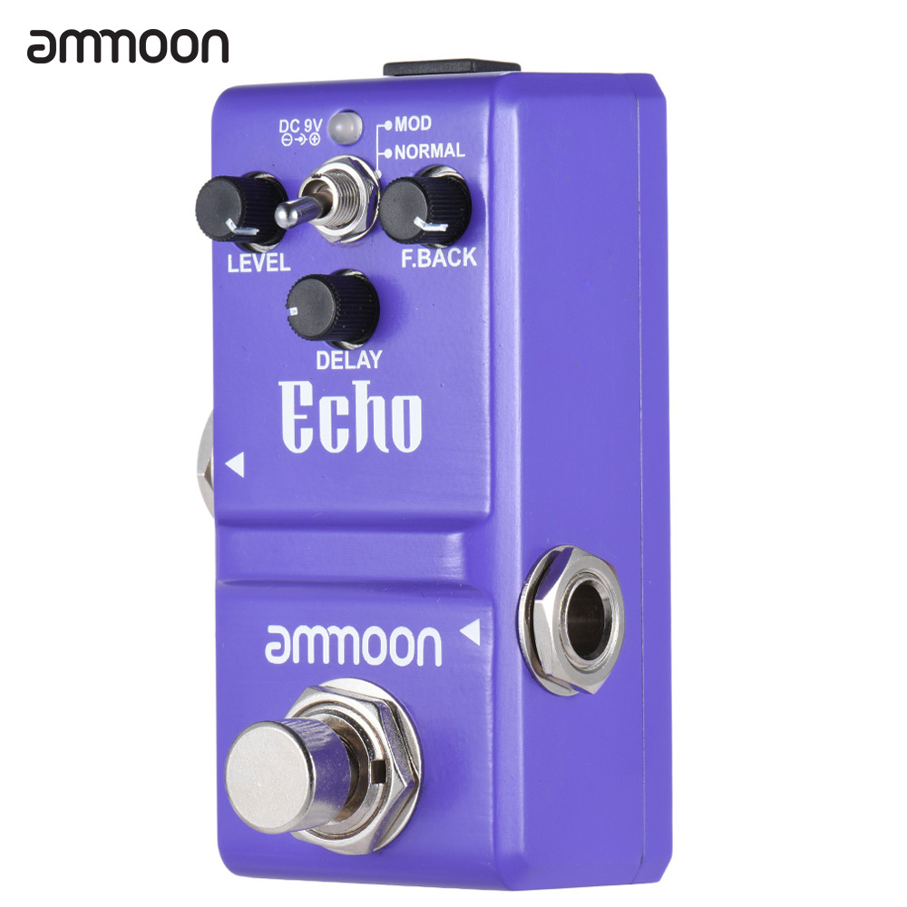 Ammoon AP-16 Guitar Pedal Nano Series Delay Guitar Effect Pedal True Bypass Aluminum Alloy Body Guitar Parts & Accessories