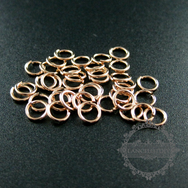 205gauge 076x5mm rose gold filled color not tarnished single jump