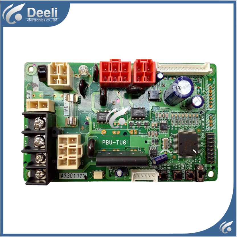 95% new  for Panasonic air conditioning Computer board A73C1171 A73C1168 PBU-TU61 circuit board wire universal board computer board six lines 0040400256 0040400257 used disassemble