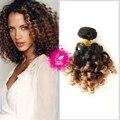 Лебедь Волос 9А выдвижение человеческих волос 3 связки Перуанский спираль curl weave 3 тона ombre наращивание волос волосы сотка великобритании