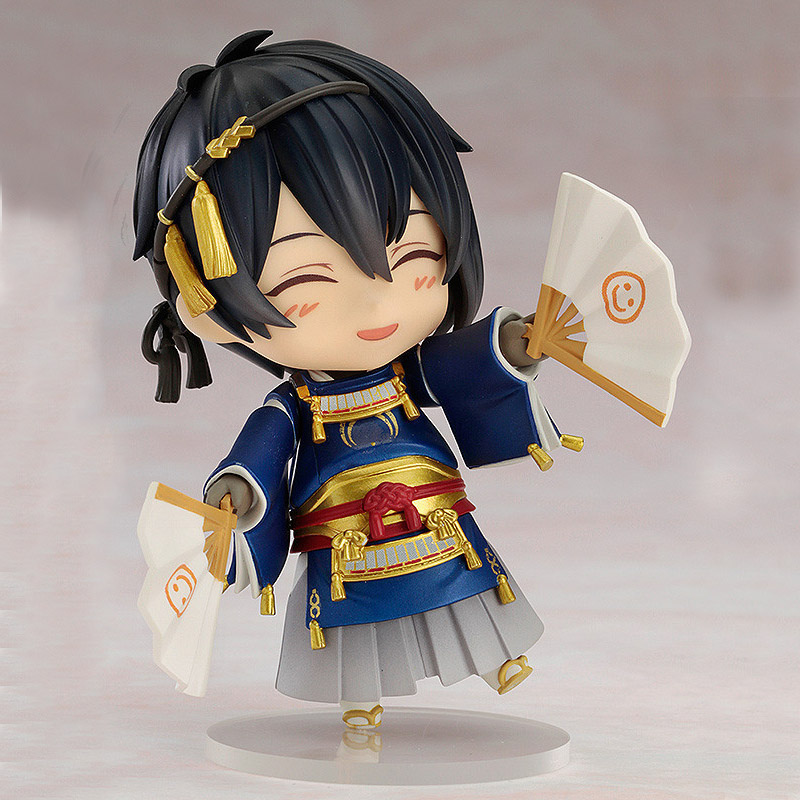 Game Touken Ranbu Online Mikazuki Munechika Cheerful Ver Pvc Action Figure 10CM Japanese Anime Nendoroid Juguetes Kids Hot Toys