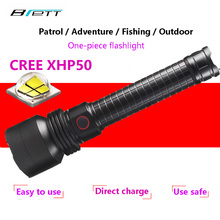 CREE XHP50 flashlight 18650 or 26650 battery Aluminum light cup Direct charging Powerful led Tactical flashlight