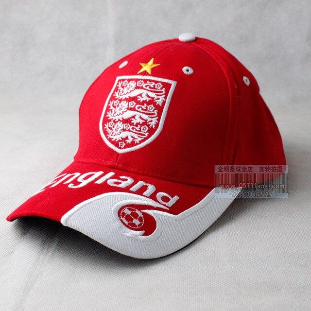 Football Team logo embroidery England sun hat baseball cap football hat red    white England national team soccer bb89970dc3c0