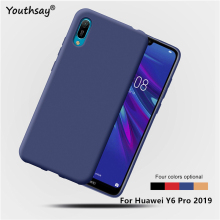 For Huawei Y6 Pro 2019 Case Matte TPU Soft Silicone Back Phone Cover Youthsay