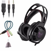 KOTION Each M190 Gaming Headphones With Microphone For Computer Best PC Gamer Headset Game Casque Bass