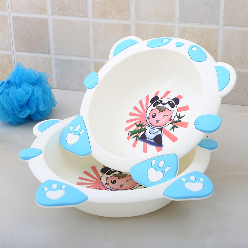 Factory direct big size small wash baby tub lovely cow plastic kids