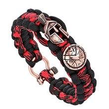 Новые ювелирные изделия мужские браслеты/Pulseira/Роскошный наружный амулет веревка браслет для выживания/Винтаж/браслеты ручной работы плетеный браслет