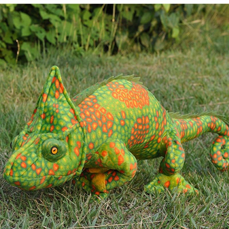 New Arrived Leopard Veiled Chameleon Plush Toys 69cm Size  Emulational Wacky Ideas Stuffed Plush Toys Kids Gift Birthday Gift
