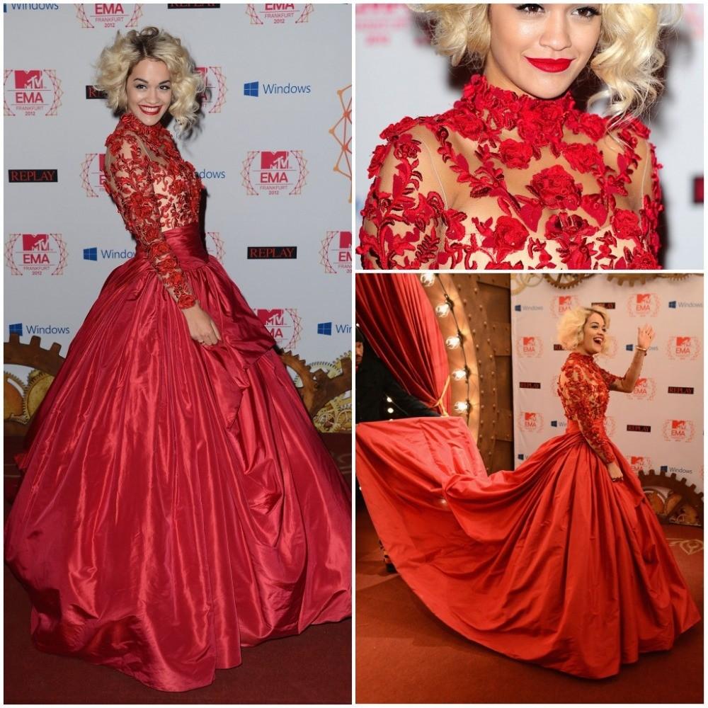 Hot-sale-Custom-Rita-Ora-at-the-MTV-EMA-s-2014-Taffeta-Celebrity-Dresses-Red-Ball (5)