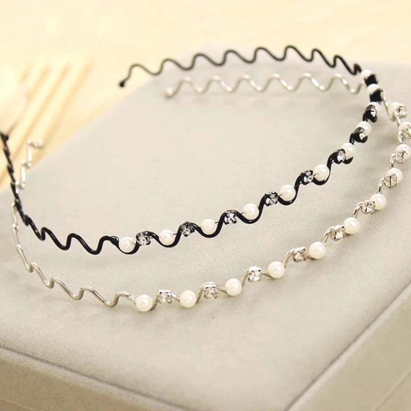 1 Pcs Princess Pearl Hairbands  Rhinestone Elegant Female Headwear Fashion Girls Headbands Children Hair Accessories