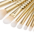 8Pcs Makeup Brushes Kits Professional Nylon Honeycomb Cosmetic Foundation Eye Face Blush Brush Set Tools Gold pinceis maquiagem