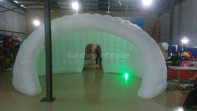Best design fashion 6m inflatable dome tent igloo tent bar tent with 2 entrances&led lights for wedding party events sale