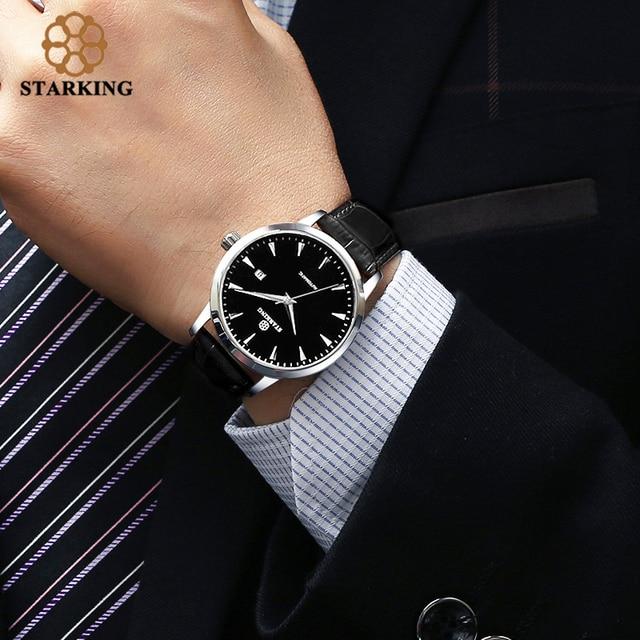 STARKING automatyczny zegarek 2018 nowych mężczyzna mechaniczne własna wiatr zegarki 50 M wodoodporny zegar mężczyzna Watcg Relogio Masculino mężczyźni