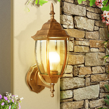 European outdoor wall lamp antique simple creative waterproof balcony bedroom walkway villa lamps and lanterns