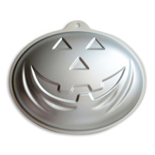 highquality 1pcs pumpkin head shape aluminium alloy cake mold bakeware cake pan oven baking pastry mould halloween supplies
