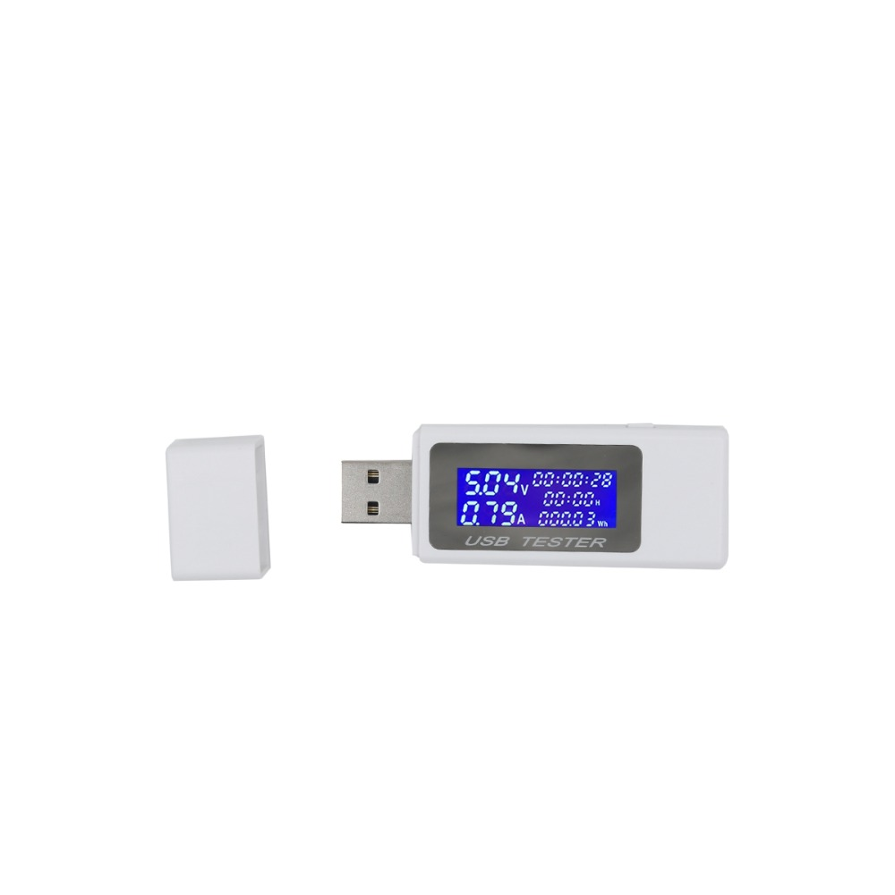 9 in 1 USB tester Digital current voltage meter amp volt ammeter detector power bank charger indicator 4-30v 30%off