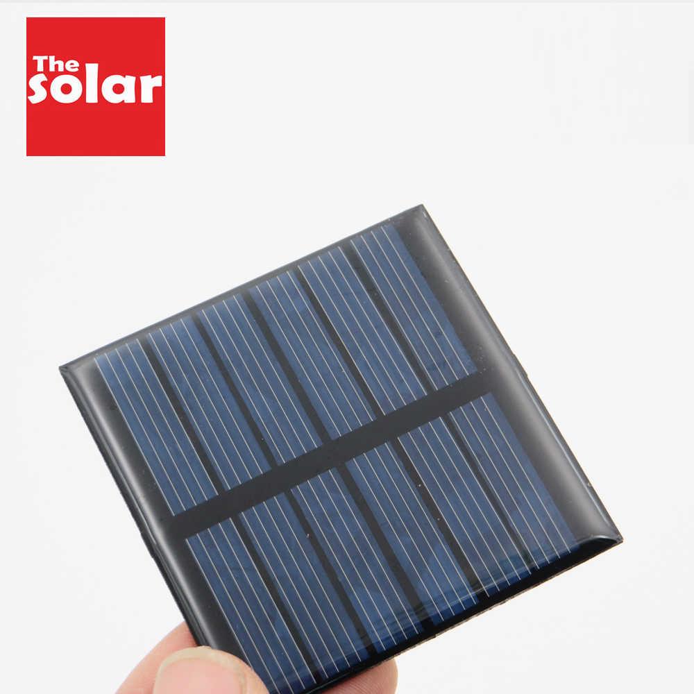 3VDC 120mA 0.36 واط لوحة طاقة شمسية القياسية الايبوكسي الكريستالات السيليكون لتقوم بها بنفسك بطارية الطاقة تهمة وحدة لعبة الخلايا الشمسية الصغيرة