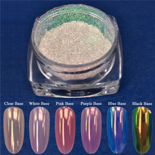 0.2g Neon Mermaid Nail Glitter Powder Mirror Unicorn Ultra-thin Chrome Pigment Powder Manicure Nail Art Decoration Accessory