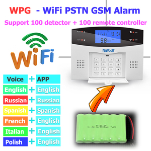 Image 2 - Wifi PSTN אזעקת GSM מערכת 433 אלחוטי Wired גלאי מעורר חכם בית ממסר פלט APP אנגלית/רוסית/ספרדית/צרפת/איטלקית