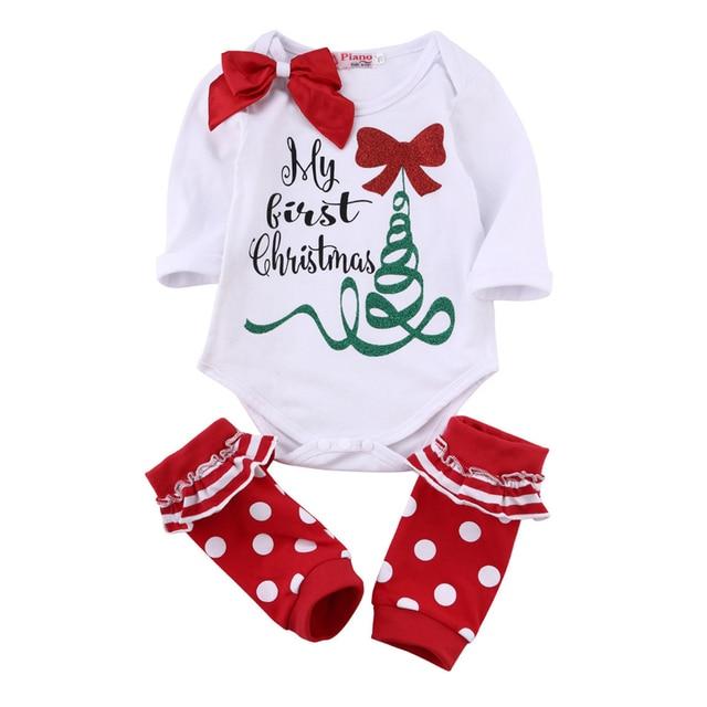 0541510ef Baby Girls Bodysuit+skirt 2pcsChristmas Clothing long Sleeve ...