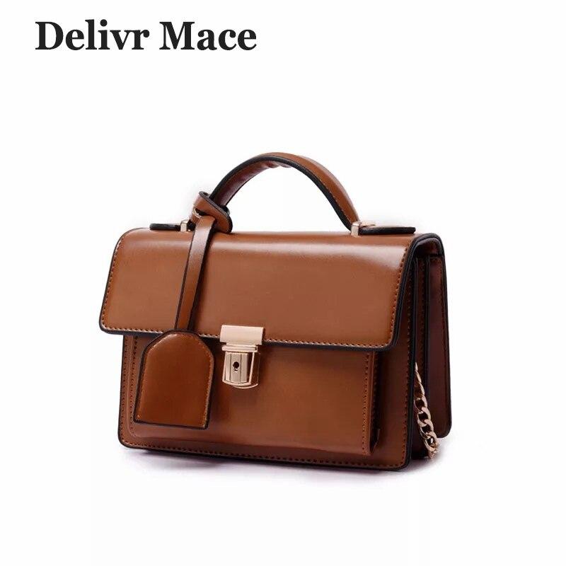 Marron Vintage femmes sacs à main en cuir PU petits sacs à main pour femmes de haute qualité solide sacs à bandoulière femme fermeture à glissière rabat sac 6 couleurs