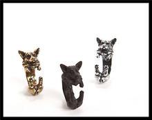 Оптовая продажа регулируемое кольцо corgi в стиле ретро панк