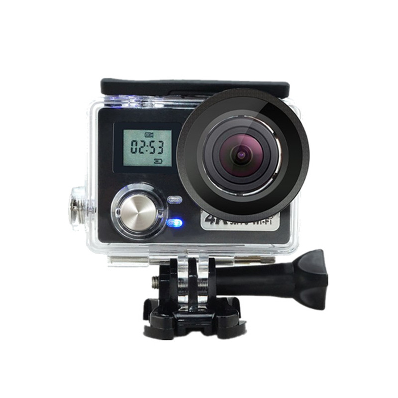 AT-N460 4K 170 Degree Wide Angle Ultra HD WiFi Gyro Anti Shake FPV Action Sports Camera Cam With Remote Control Waterproof Case