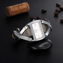 Gogoey zegarki damskie luksusowe Rhinestone bransoletka zegarka kobiet zegarki moda zegarki zegarek dla pań zegar reloj mujer zegarek damski tanie tanio QUARTZ Nie wodoodporne Klamra Moda casual Ze stali nierdzewnej Nie pakiet Brak Skóra 35mm Szkło women s watches 22cm