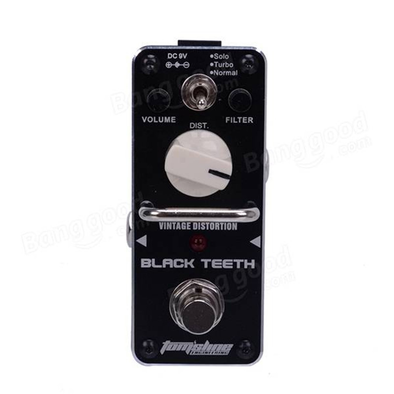 AROMA ABT-3 Black Teeth Vintage Distortion Electric Guitar Effect Pedal Mini Single Guitarra Effect Pedal with True Bypass