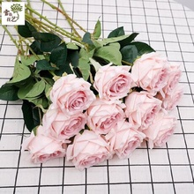 The new 10 bouquet of fall in love mei roses road flowers wedding simulation Artificial flower Fake