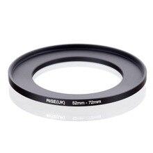 Oryginalny RISE (UK) 52mm 72mm 52 72mm 52 do 72 pierścień redukcyjny adapter do filtra czarny