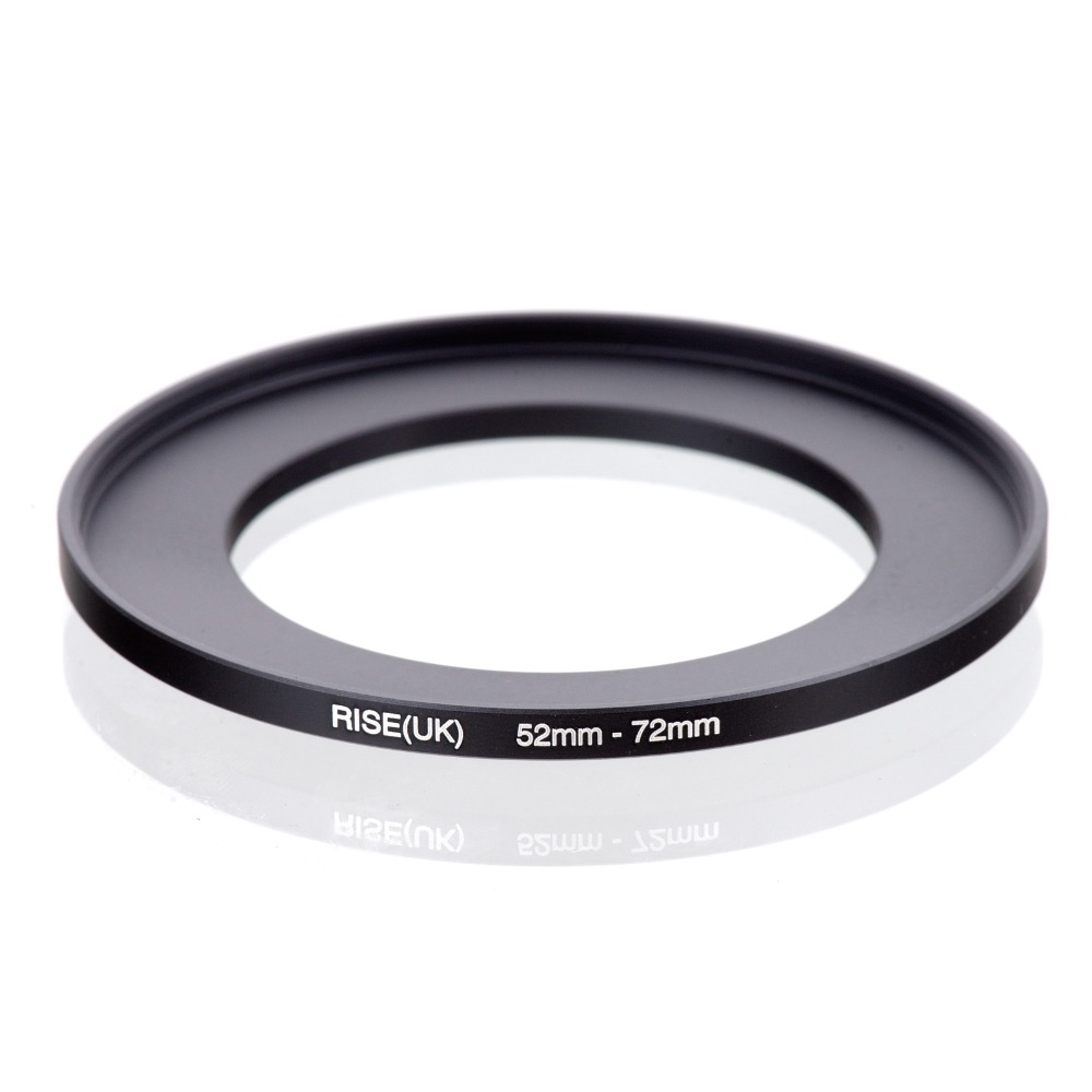 Original RISE(UK) 52mm-72mm 52-72mm 52 To 72 Step Up Ring Filter Adapter Black
