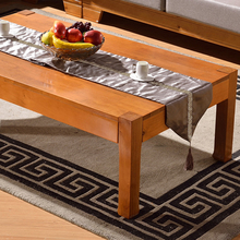 Green oak furniture wood coffee table a few big long alone made another solid support teasideend