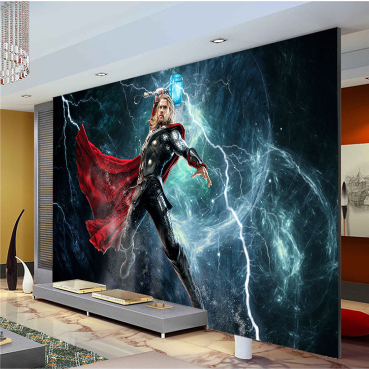 Buy the avengers wall mural thor photo for Chinese movie mural