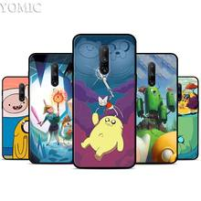 Adventure Time Finn Jake Anime Silicone Case for Oneplus 7 7Pro 5T 6 6T Black Soft Case for Oneplus 7 7 Pro TPU Phone Cover