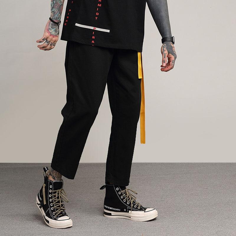 Negro Streetwear Harem Hip Hop Los Hombres De Sueltos Pantalones n7UAq8wgx