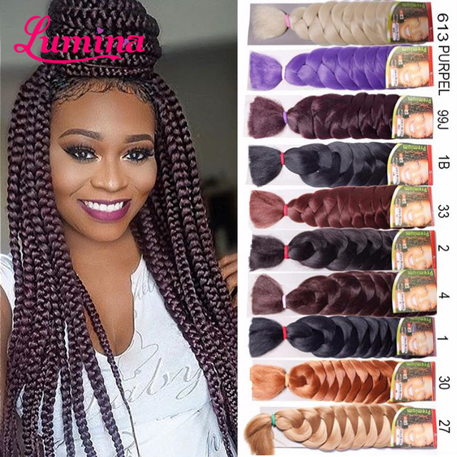 10pcs Epressions Kanekalon Braiding Hair 41 165g Box Braid Extensions African Braids Hairpieces For Women