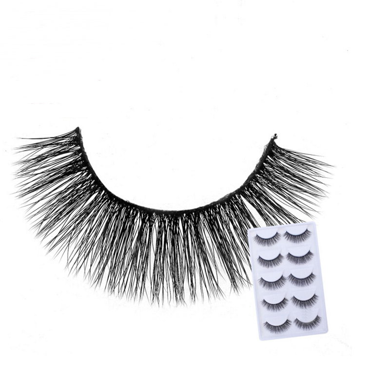 2018 NEW 5 Pairs mink eyelashes natural long 3d mink lashes hand made false eyelashes 1 box makeup eyelash extension E30