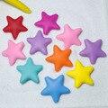 20 unids Perlas Estrella de Silicona Bebé Mordedor Bpa Libre Del Grano Diy Collar de La Joyería Del Bebé Cadena de Chupete Dentición Masticar Dentales regalo