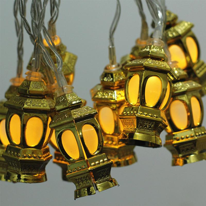 Image 3 - LED Muslim Ramadan Lanterns String Lights Eid Light Decoration 