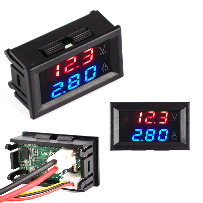 <font><b>DC</b></font> <font><b>100V</b></font> 10A <font><b>50A</b></font> 100A Mini Digital <font><b>Voltmeter</b></font> <font><b>Ammeter</b></font> Voltage Current Meter Tester 0.28
