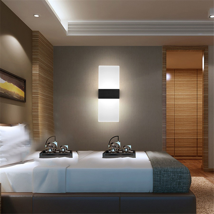 Modern LED Wall Lamp Acrylic Mounted Sconce AC Power ...