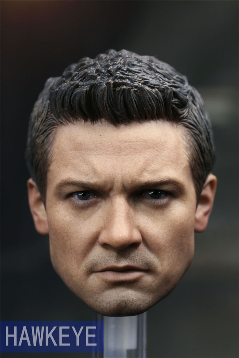 Mnotht Toy Custom Jeremy Renner 3.0 1/6 Head Sculpt for Hot Toys Hawkeye Muscular Body 12in Male Solider Model Toy l30 mnotht head sculpt 1 6 solider head model mk42 mk43 iron man toni carved head for 12in figures toys and body l30
