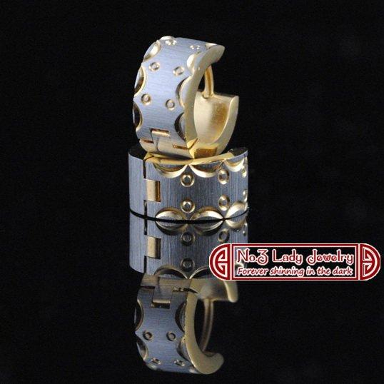 GOKADIMA bijioux 316l Stainless Steel Cool Mens Earrings For Cow boy Biker and Rockers, Wholesale,WE012