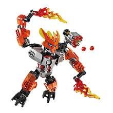 купить BionicleMask of Light XSZ 706-6 Children's Protector of Fire Bionicle Building Block Compatible With 70783 Toys по цене 306.23 рублей