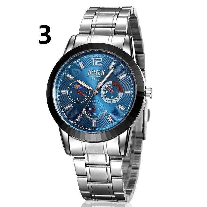 лучшая цена New luxury men's business quartz watch, stainless steel watch strap.