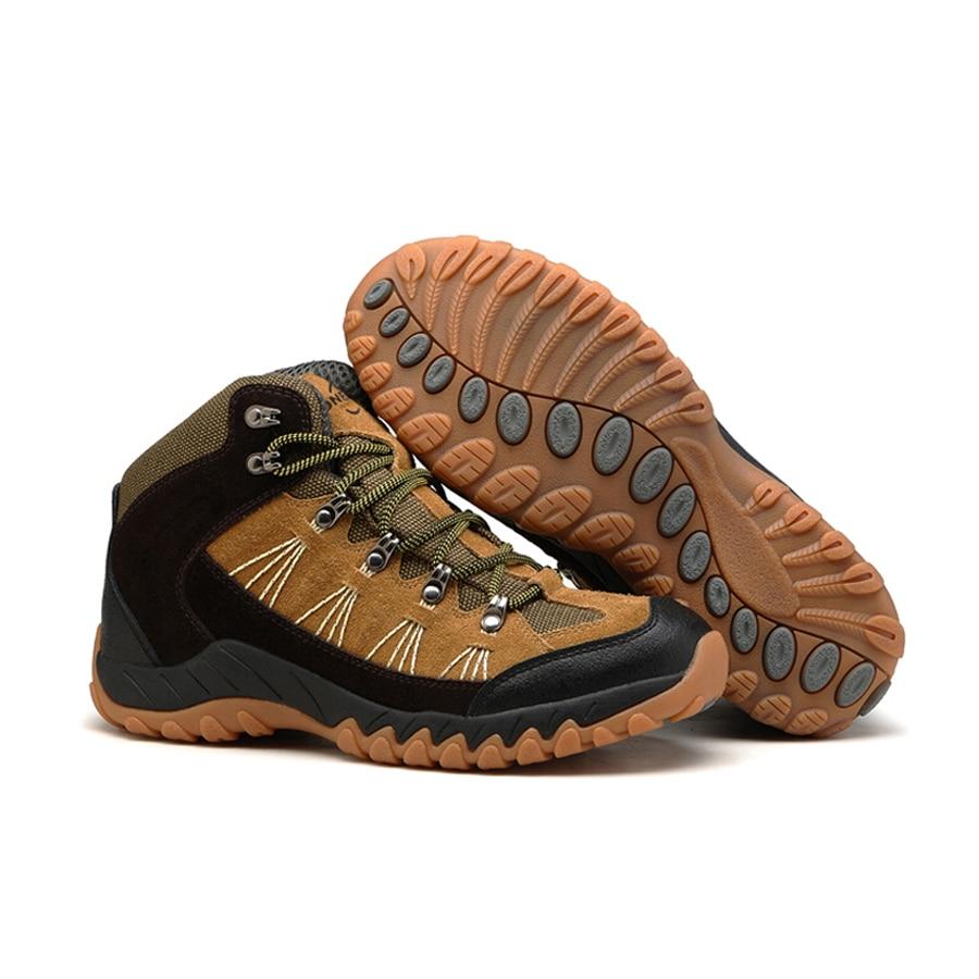 ФОТО 2016 men's hiking shoes outdoor climbing trekking shoes for men mountaineering hunting trek sport shoes non-slip waterproof